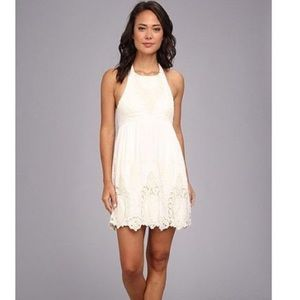 White Eyelet Dolce Vita Halter Dress
